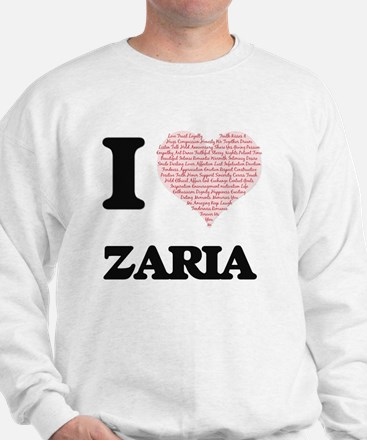 I love Zaria (heart made from words) de Sweater