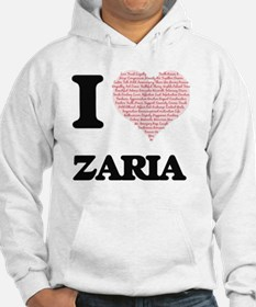 I love Zaria (heart made from wo Hoodie Sweatshirt