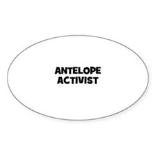 antelope activist Oval Decal