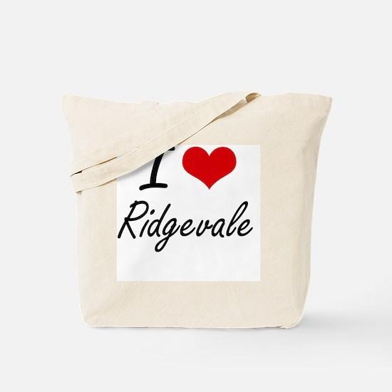 I love Ridgevale Massachusetts artistic Tote Bag