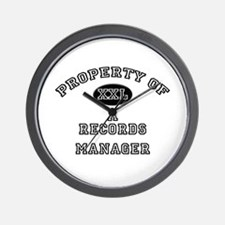 Property of a Records Manager Wall Clock