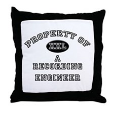 Property of a Recording Engineer Throw Pillow