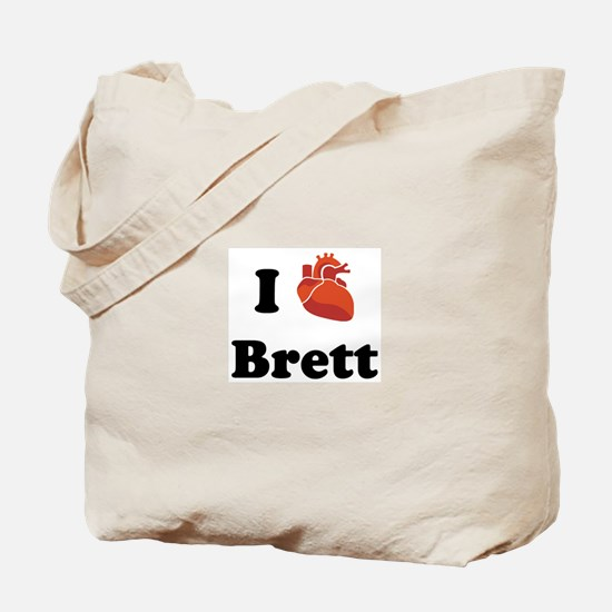 I (Heart) Brett Tote Bag