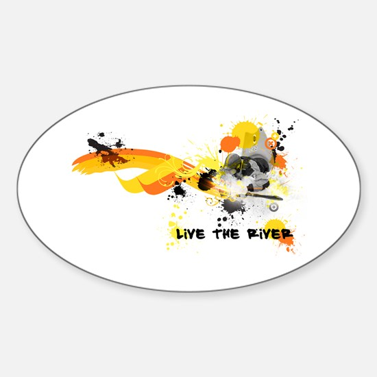 Kayak Capers Oval Decal
