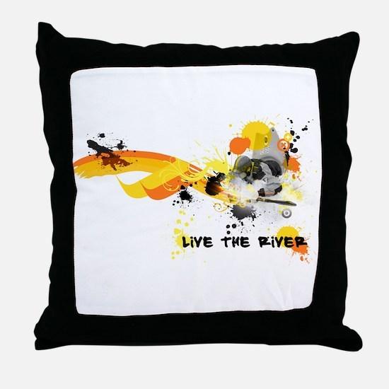 Kayak Capers Throw Pillow