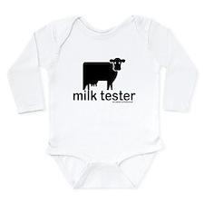 Cute Milk cow Long Sleeve Infant Bodysuit