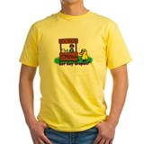 Duck song Mens Yellow T-shirts