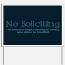 No Soliciting Winter 1 Yard Sign