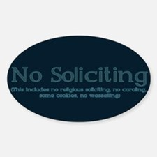 No Soliciting Winter 1 Decal