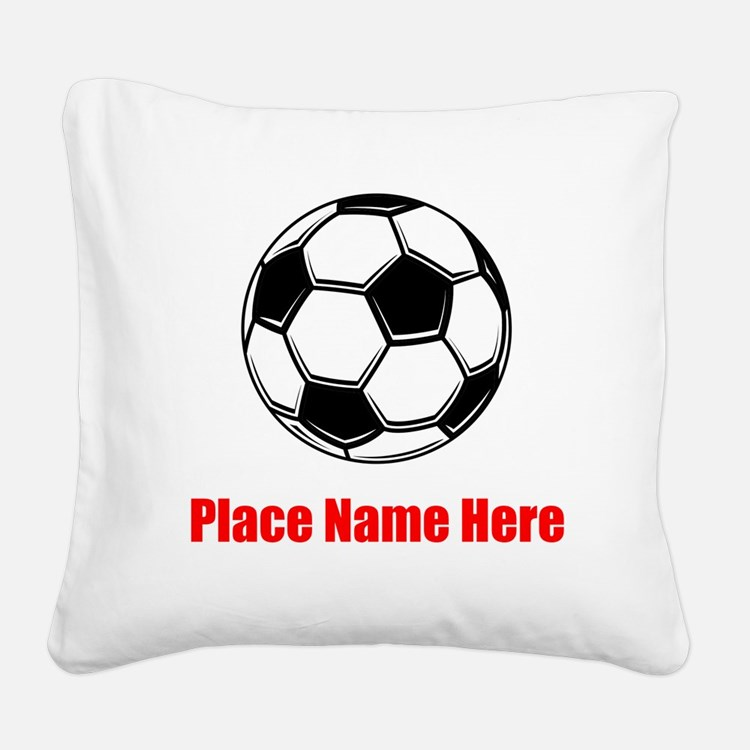 Soccer Square Canvas Pillow