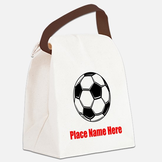 Soccer Canvas Lunch Bag