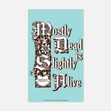 Mostly Dead Sticker (rectangle)