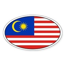 Malaysia Flag sticker Oval Decal