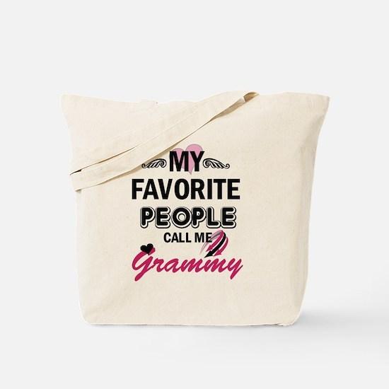 My Favorite People Call Me Grammy Tote Bag