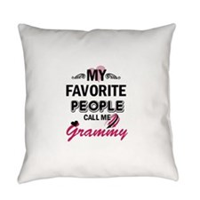 My Favorite People Call Me Grammy Everyday Pillow