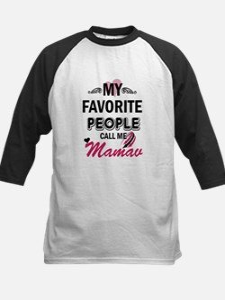 My Favorite People Call Me Mamaw Baseball Jersey