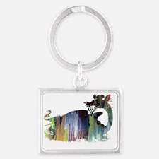 Cool Dragon pictures Landscape Keychain