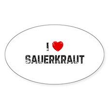 I * Sauerkraut Oval Decal