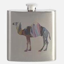 Animal silhouette art Flask