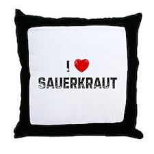 I * Sauerkraut Throw Pillow