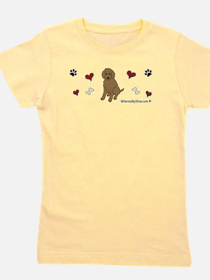 labradoodle chocolate Women's Dark T-Shirt