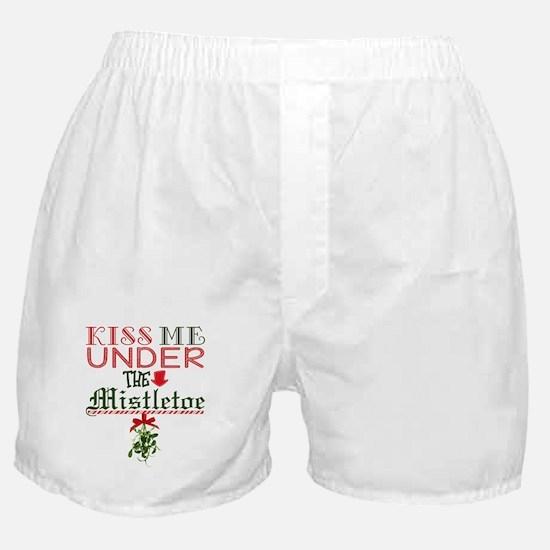 Kiss Me Under the Mistletoe Boxer Shorts