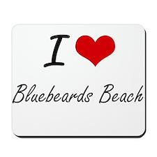 I love Bluebeards Beach Virgin Islands Mousepad