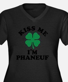 Cute Phaneuf Women's Plus Size V-Neck Dark T-Shirt