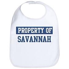 Property of SAVANNAH Bib