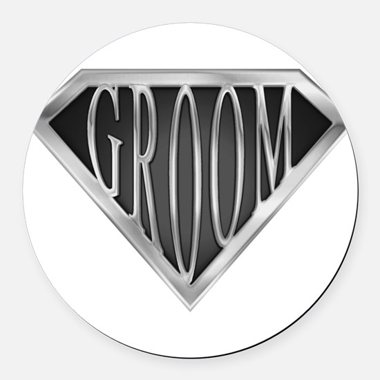 spr_groom_cx.png Round Car Magnet