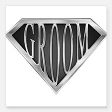 "spr_groom_cx.png Square Car Magnet 3"" x 3"""