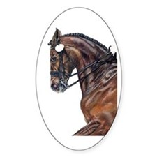 Dressage Horse Oval Decal