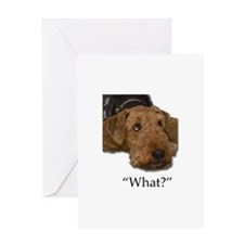 Sad Droopy Eyes Airedale Terrier Greeting Cards