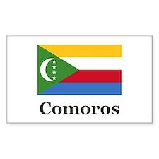 Comoros Rectangle Decal