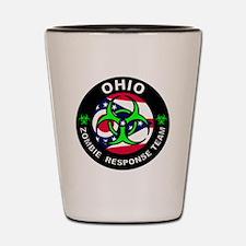 OH ZRT Green Shot Glass
