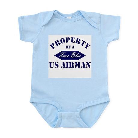 Property of a TRUE BLUE US Airman Infant Creeper