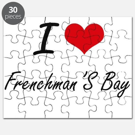 I love Frenchman'S Bay Virgin Islands arti Puzzle