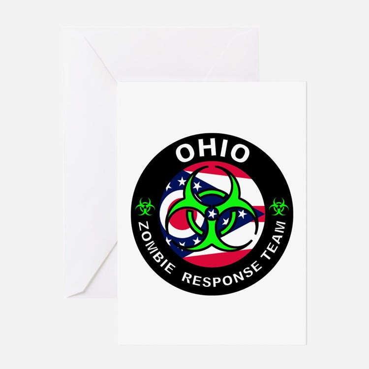 OH ZRT Green Greeting Cards