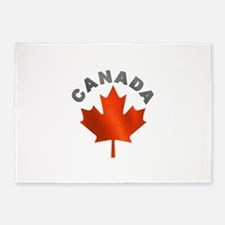 MAPLE_LEAF_CAN.png 5'x7'Area Rug