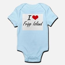I love Fripp Island South Carolina arti Body Suit