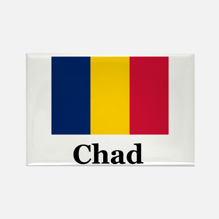 Chad African Rectangle Magnet