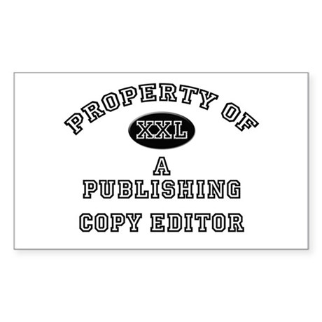 Property of a Publishing Copy Editor Sticker (Rect