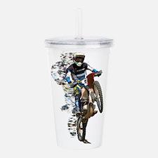 Motocross with Flying Acrylic Double-wall Tumbler