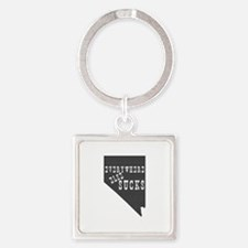 Nevada State Square Keychain