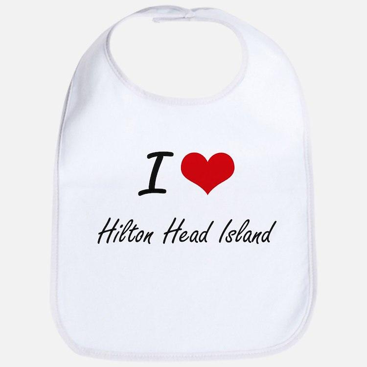 I love Hilton Head Island South Carolina arti Bib
