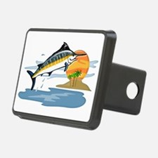 Blue Marlin in Tropical Se Hitch Cover