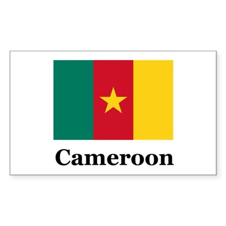 Cameroon Rectangle Sticker
