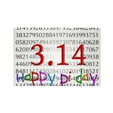 Cute Pi Rectangle Magnet (10 pack)