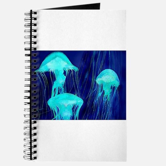 Neon Glowing Jellyfish in the Ocean Journal