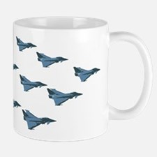 Swarm of European Union Fighters in Formation Mugs